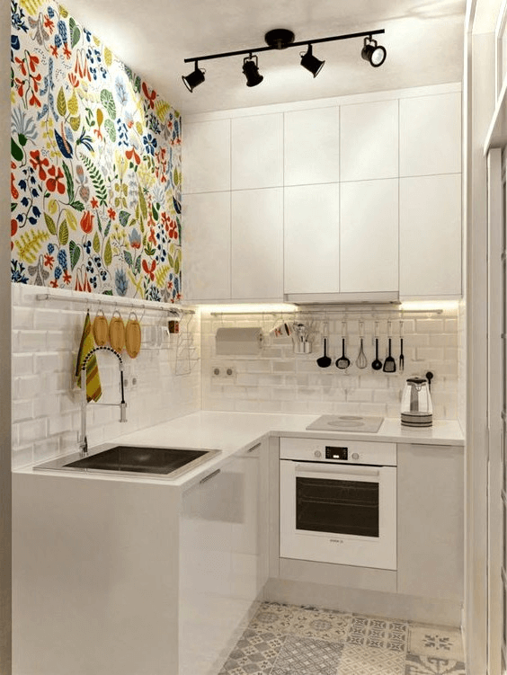 Simple tiny and small kitchen clean design