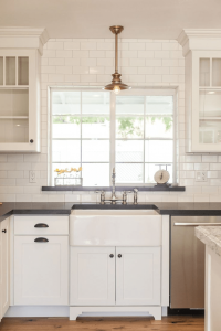 Backsplash window for small kitchen
