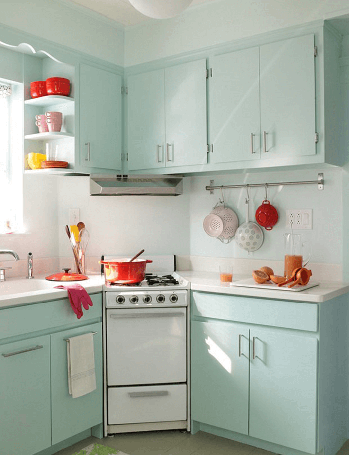 Beautiful color kitchen cabinet furniture