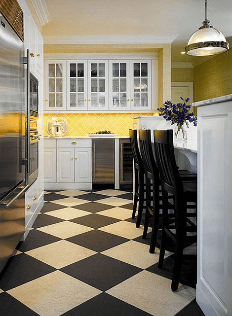 Black white and yellow kitchen decor ideas