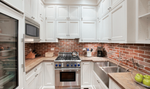 Brick backsplash small kitchen ideas