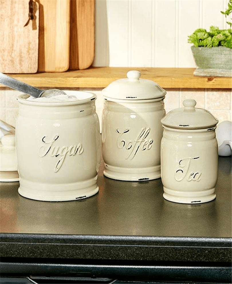 Canister sets for kitchen counter tops