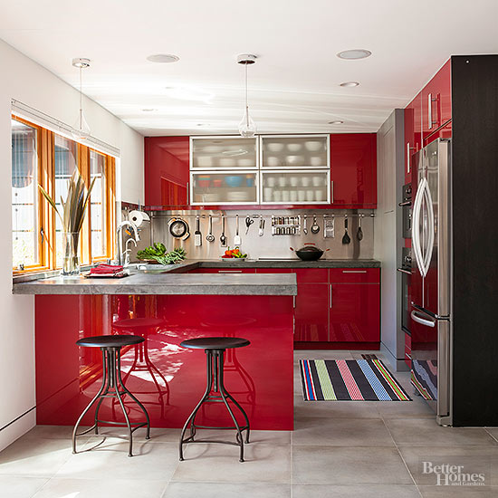 Colorful small kitchen ideas