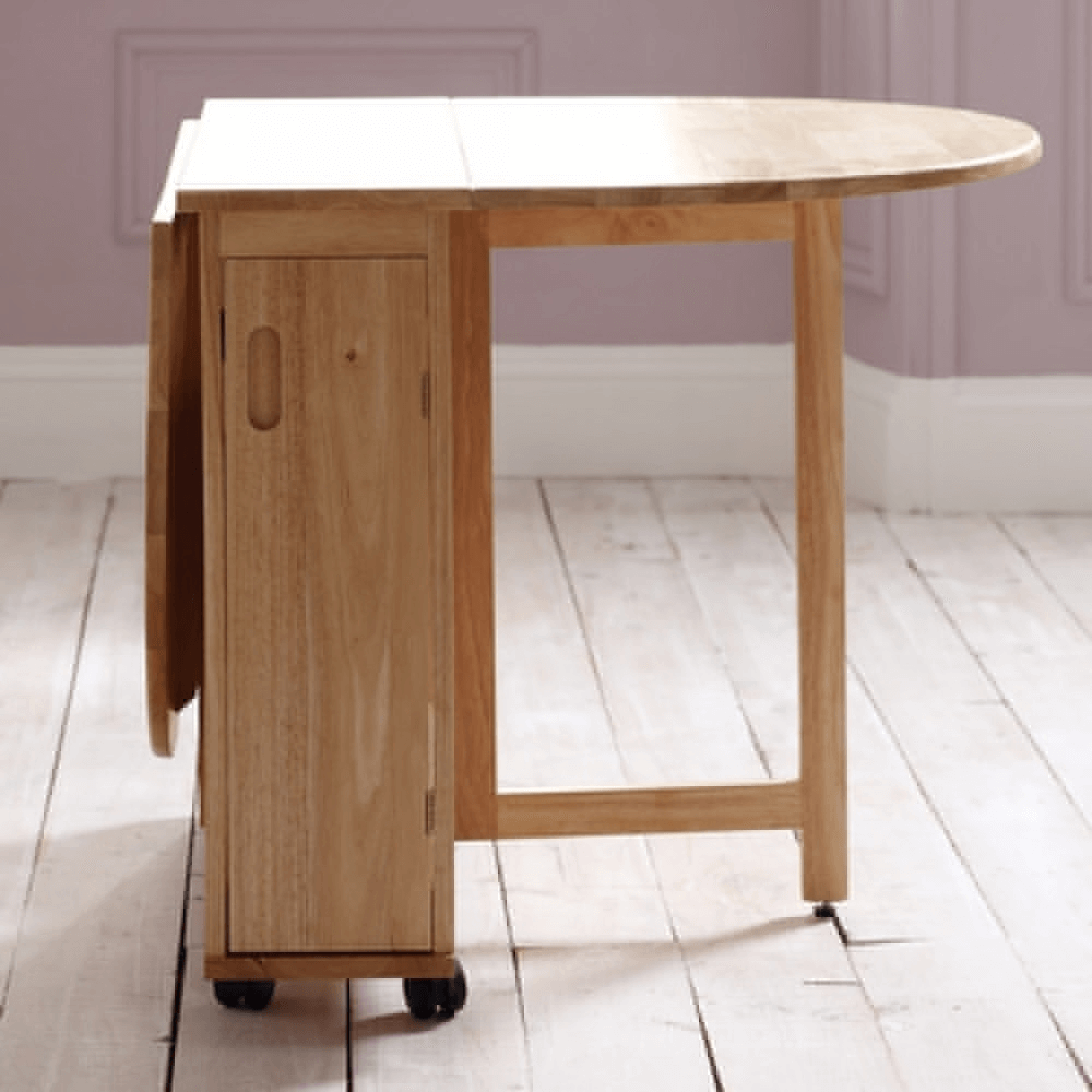 Folding table with storage for small kitchens