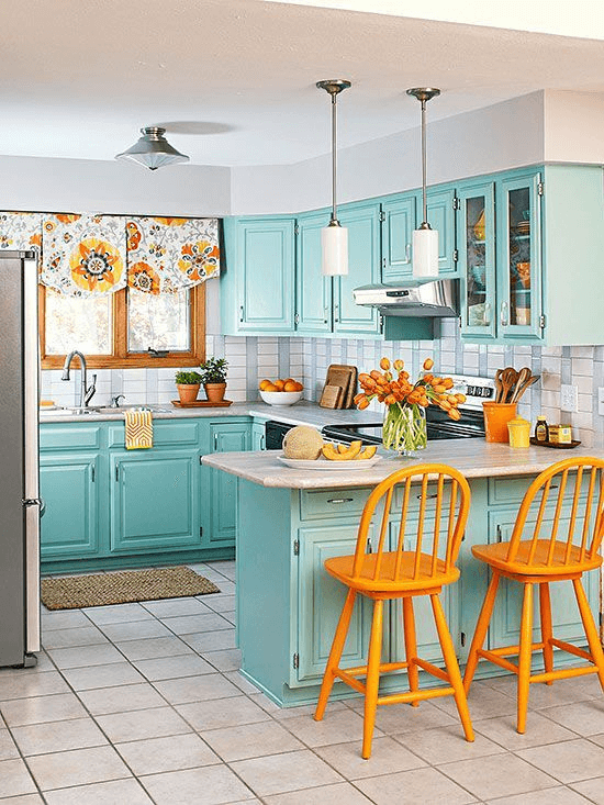 Best Wall Shades For Your Tiny Kitchen
