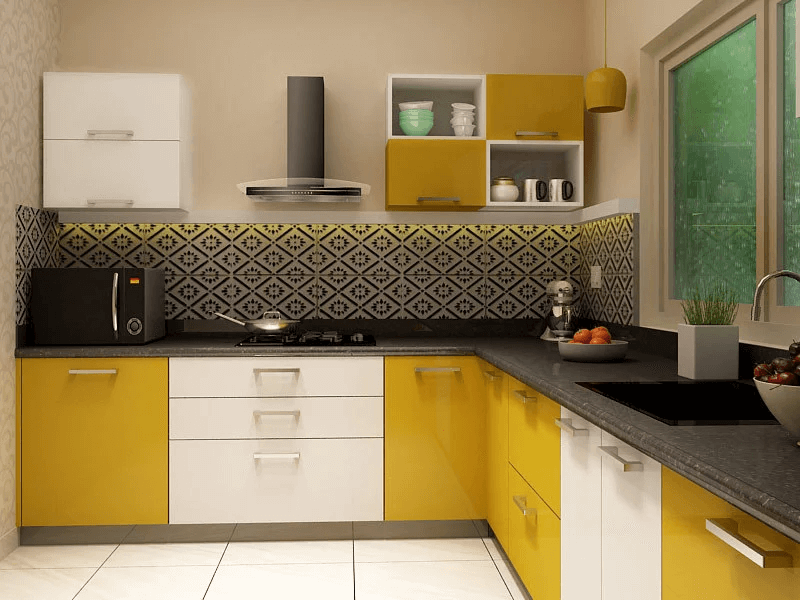 Kelly L shaped modular kitchen design