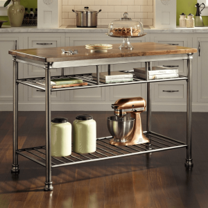 Mobile Metal Kitchen Island for narrow space