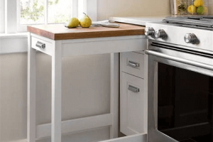 Nesting table kitchen cabinet for small space