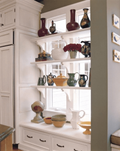 SMALL KITCHEN WINDOW STORAGE IDEAS