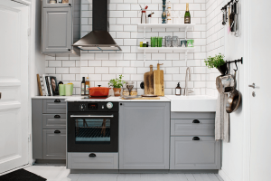 Scandinavian style kitchen cabinet for small space