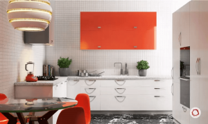 Small kitchen backsplash ideas with the same motif as the wall