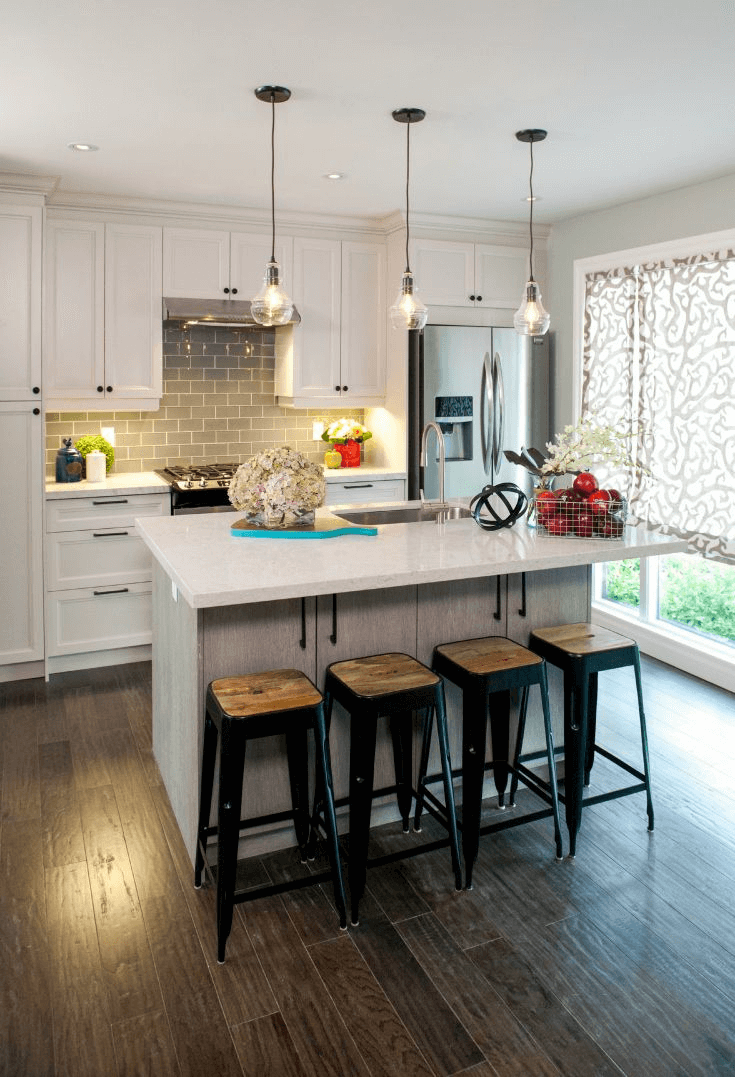 Small kitchen pendant lights as decoration