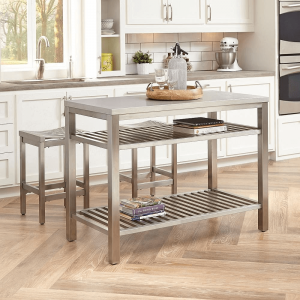 Stainless steel kitchen island for small space