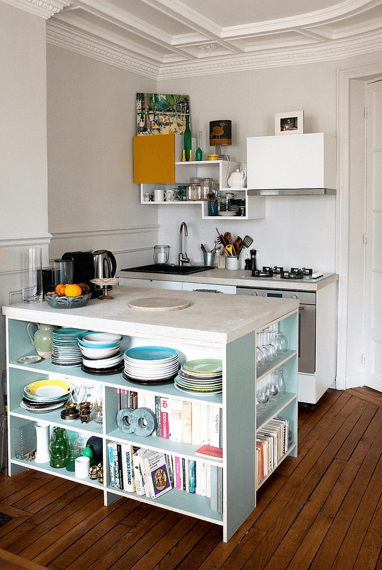 The Open Storage Kitchen Island for small space