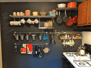 Wall store hanging tools organizing small kitchens
