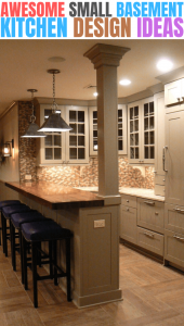 AWESOME SMALL BASEMENT KITCHEN DESIGN IDEAS