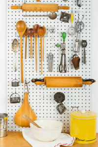 Pegboard organization kitchen ideas for small spaces