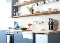 Spots to Put Floating Shelves for a Small Kitchen