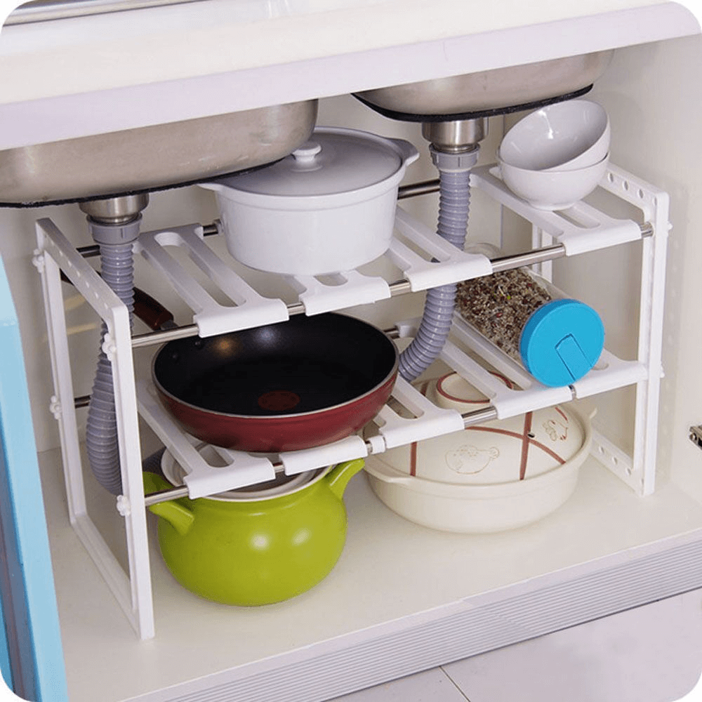 Under Sink Storage Shelves organization for small kitchen