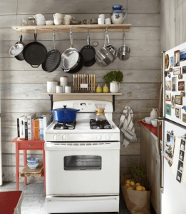 Add new pots hanger kitchen for remodel on a budget