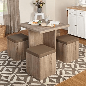 Dining table ottoman chairs