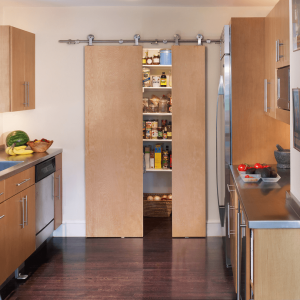 Sliding door pantry makeover small kitchen ideas
