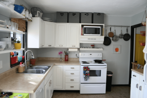 Storage above kitchen cabinets small space saving ideas