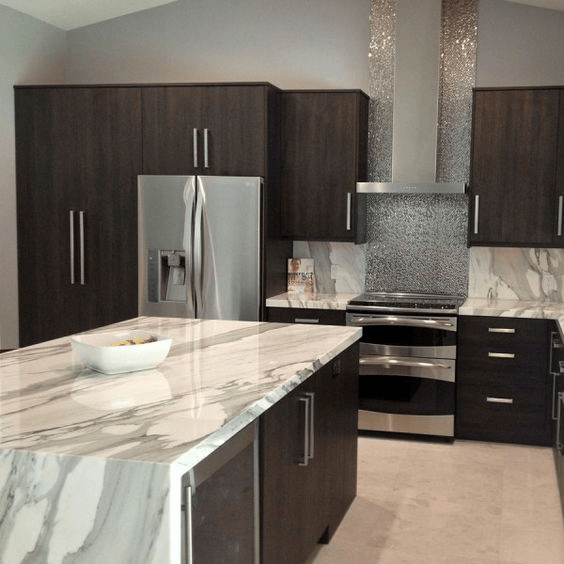 Best countertop color for small kitchen with dramatic countertops