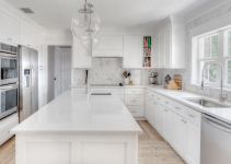 Best countertop color for small kitchen with white ideas