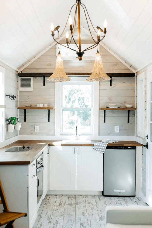 Farmhouse Tiny House Kitchen Design Ideas