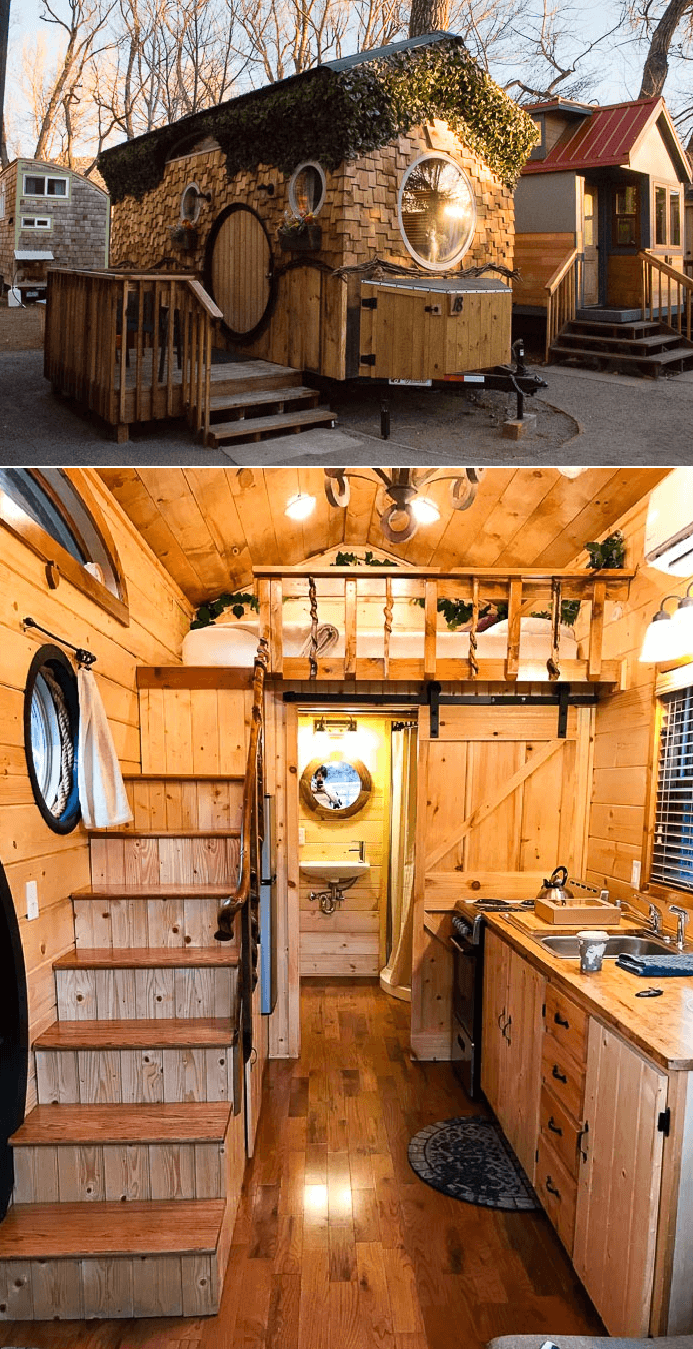 Hobbit tiny house kitchen design ideas