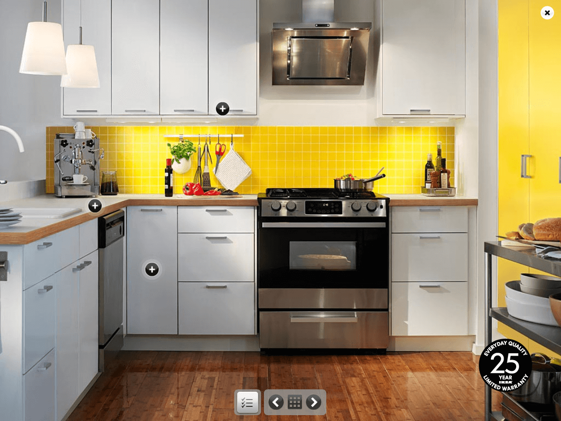 Mustard yellow kitchen backsplash