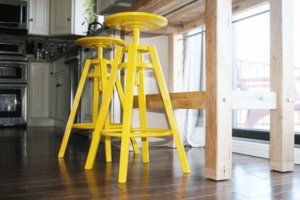 Mustard yellow kitchen chairs