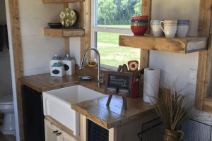 Rustic tiny house kitchen shipping container design ideas
