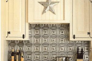 Tin Backsplash kitchen interior decorations
