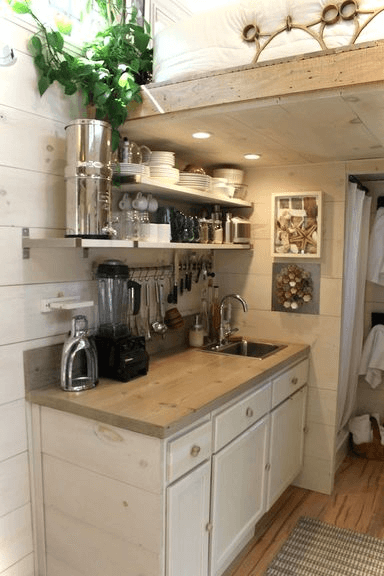 Tiny house kitchen hallway design ideas