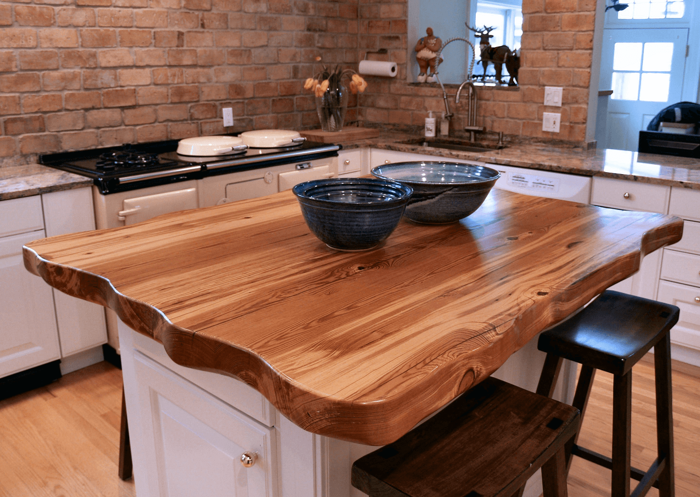 Wood countertop for small kitchen color ideas