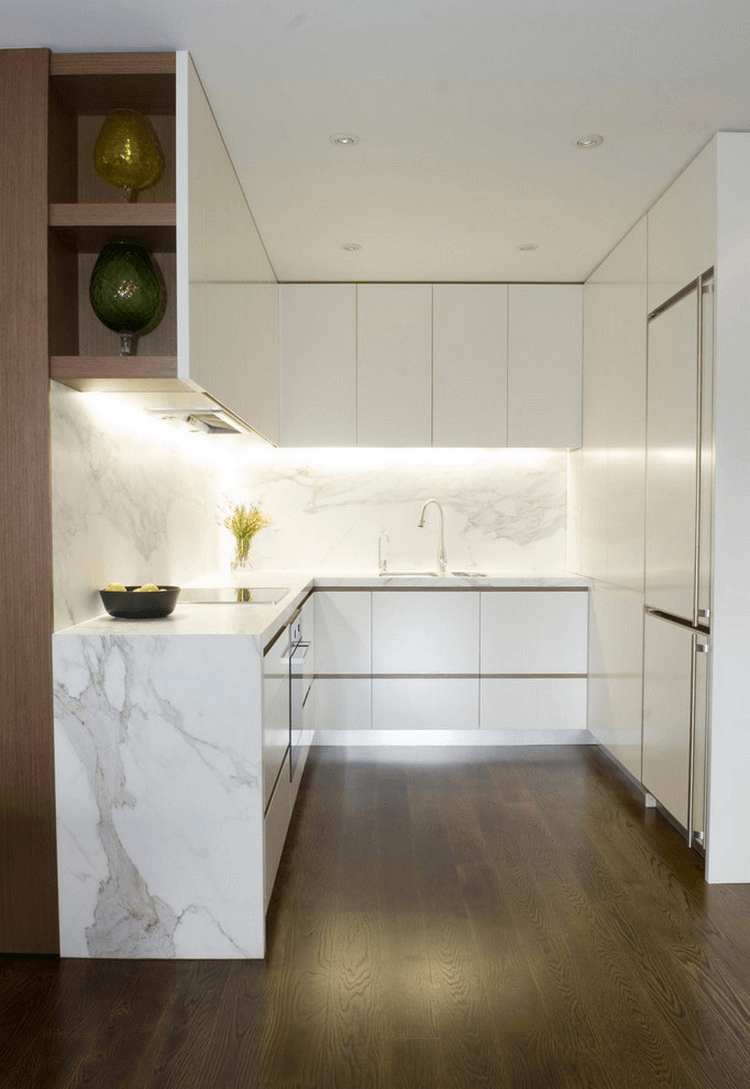 Small U Shaped Kitchen Lighting