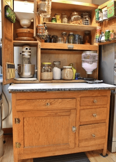 HOOSIER KITCHEN CABINET DESIGN IDEAS FOR TINY HOUSE