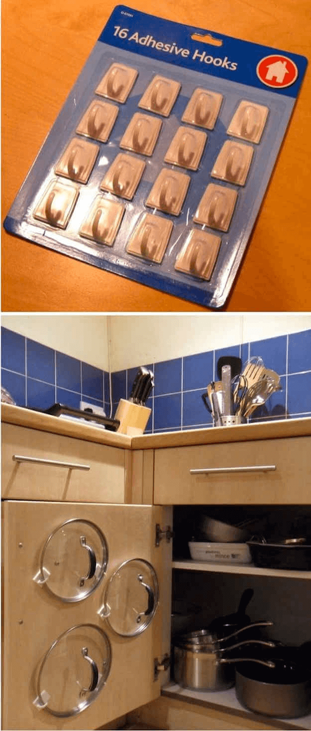 LID HOOK STORAGE CABINET DOORS