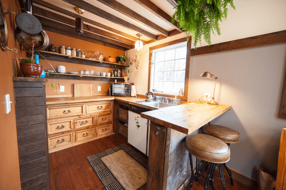 RUSTIC DRESSER KITCHEN CABINET DESIGN IDEAS FOR TINY HOUSE