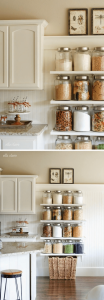 SNACKS AND ESSENTIALS SHELVES STORAGE IDEAS