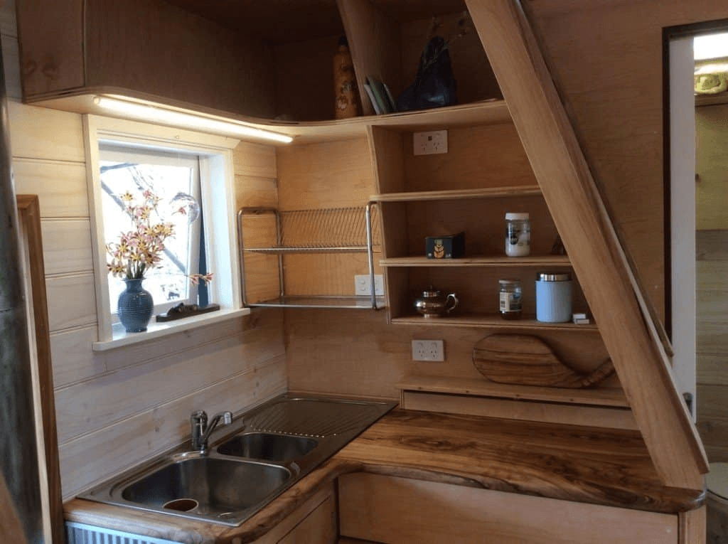 TINY HOUSE CABINET WITH DRYING RACK