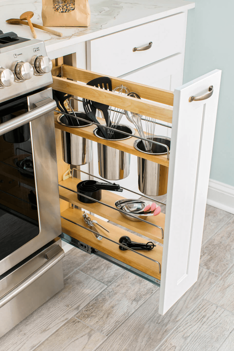 UTENSIL DRAWER CABINET GAP