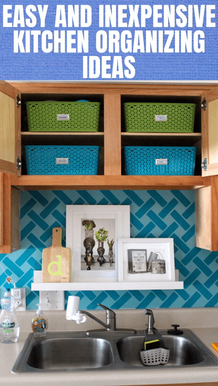 EASY AND INEXPENSIVE KITCHEN ORGANIZING IDEAS