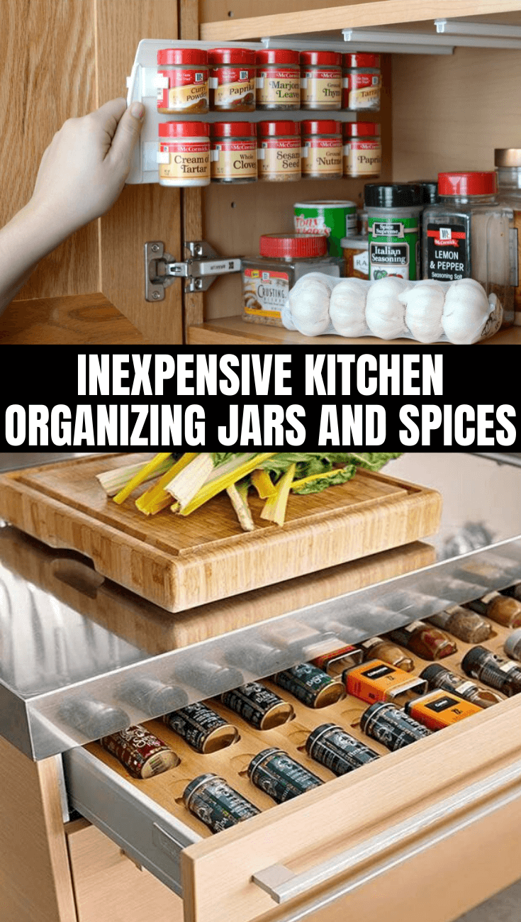 INEXPENSIVE KITCHEN ORGANIZING JARS AND SPICES