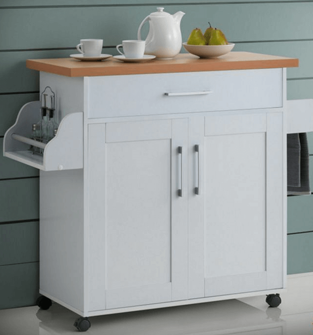 Portable kitchen cabinets on wheels