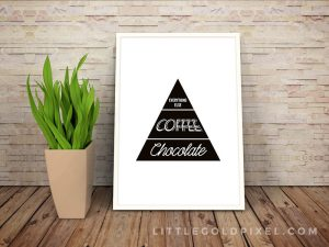 FRAMED PRINTABLE FOR APARTMENT KITCHEN DECOR IDEAS ON A BUDGET