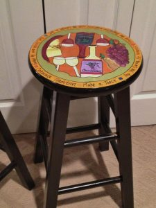 FUN PAINT KITCHEN STOOL IDEAS FOR DECORATION ON A BUDGET