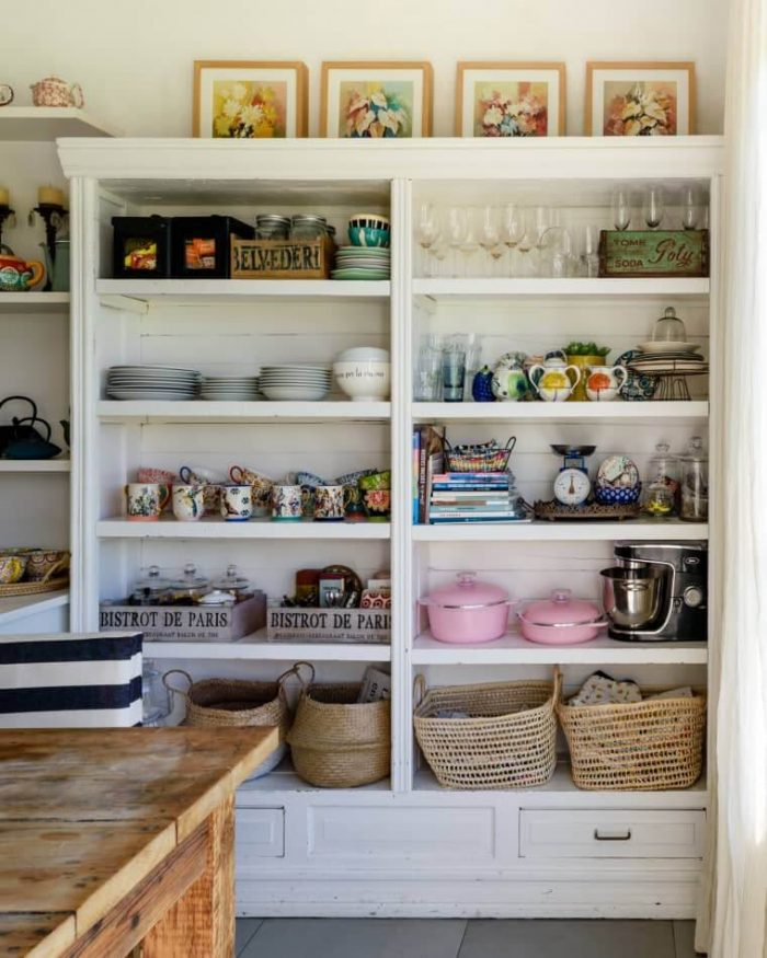 OPEN CABINET ORGANIZING IDEAS FOR APARTMENT KITCHEN SMALL SPACE
